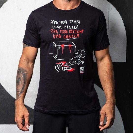 Camisa Box Desmotivacional Canela Preta Masculina Cam Box Desm Canela Pt M P