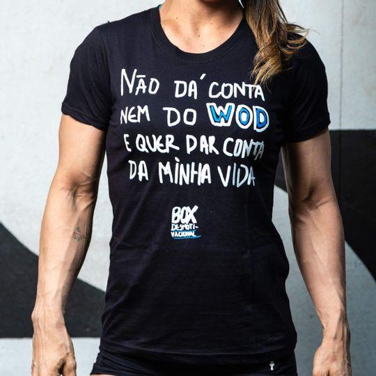 Camisa Box Desmotivacional Não dá Conta Preta Feminina Cam Box Desm Não dá Conta Pt F G