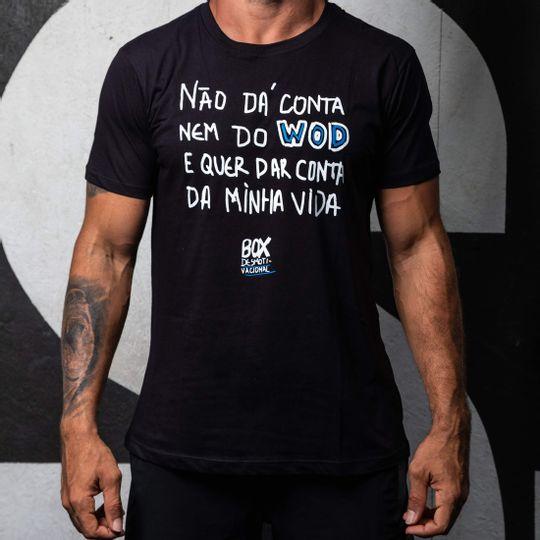 Camisa Box Desmotivacional Não dá Conta Preta Masculina Cam Box Desm Não dá Conta Pt M P